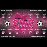 Pink Vinyl Soccer Banner LIve Designer