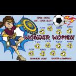 Wonder Women Fabric Soccer Banner Live Designer