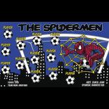 Spidermen Vinyl Soccer Banner Live Designer