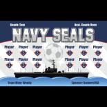 Navy Seals Fabric Soccer Banner Live Designer