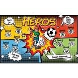 Heroes Fabric Soccer Banner - E-Z Order