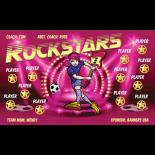 Rockstars Vinyl Soccer Banner Live Designer