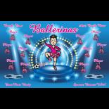 Ballerinas Vinyl Soccer Banner E-Z Order