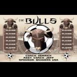 Bulls Fabric Soccer Banner Live Designer