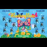 Butterflies Fabric Soccer Banner Live Designer