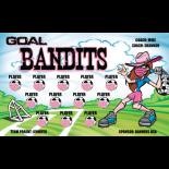 Goal Bandits Vinyl Soccer Banner Live Designer
