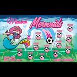 Masked Mermaids Fabric Soccer Banner Live Designer