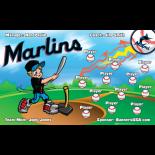 Marlins Baseball Team Banner - Live Designer