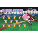 Bubblegum Sluggers Softball Team Banner - Live Designer