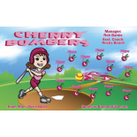 Cherry Bombers Softball Team Banner - Live Designer