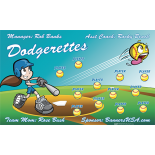 Dodgerettes Softball Team Banner - Live Designer