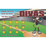Divas Softball Team Banner  - Live Designer