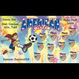 American Girls Vinyl Soccer Banner - Live Designer