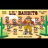 Bandits Lil Vinyl Soccer Banner - Live Designer