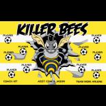 Bees Killer Fabric Soccer Banner - Live Designer