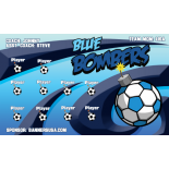 Bombers Blue Fabric Soccer Banner - Live Designer