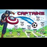 Captains Fabric Soccer Banner Live Designer
