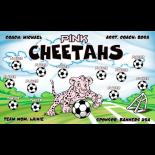 Cheetahs Pink Vinyl Soccer Banner - Live Designer