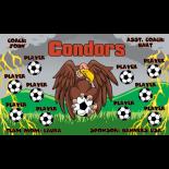 Condors Vinyl Soccer Banner - Live Designer