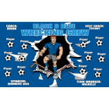 Crew Black Blue Vinyl Soccer Banner - Live Designer