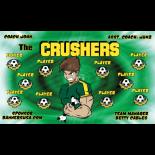 Crushers Fabric Soccer Banner - Live Designer