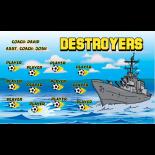Destroyers Vinyl Soccer Banner - Live Designer