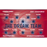 Dream Team Vinyl Soccer Banner - Live Designer