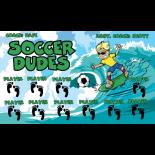 Dudes Soccer Fabric Soccer Banner - E-Z Order