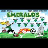 Emeralds Vinyl Soccer Banner - Live Designer