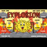 Explosion Fabric Soccer Banner - E-Z Order