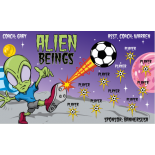 Aliens Vinyl Soccer Banner E-Z Order
