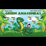 Anacondas Green Fabric Soccer Banner E-Z Order