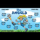 Angels Blue Vinyl Soccer Banner E-Z Order