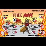 Ants Fire Fabric Soccer Banner E-Z Order