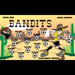 Bandits Vinyl Soccer Banner E-Z Order