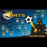 Bats Fabric Soccer Banner E-Z Order