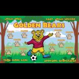 Bears Golden Fabric Soccer Banner E-Z Order