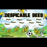 Bees Despicable Vinyl Soccer Banner E-Z Order