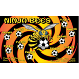Bees Ninja Vinyl Soccer Banner E-Z Order