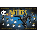 Black Panthers Fabric Soccer Banner - E-Z Order