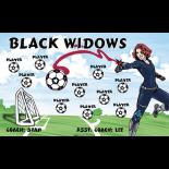 Black Widows Vinyl Soccer Banner E-Z Order