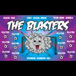 Blasters Vinyl Soccer Banner E-Z Order