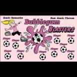 Blasters Bubblegum Fabric Soccer Banner E-Z Order