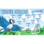 Blue Jays Vinyl Soccer Banner E-Z Order