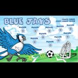 Blue Jays Fabric Soccer Banner E-Z Order