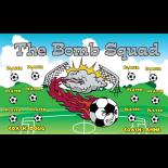 Bomb Squad Vinyl Soccer Banner E-Z Order