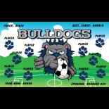 Bulldogs Fabric Soccer Banner E-Z Order