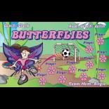 Butterflies Fabric Soccer Banner E-Z Order