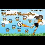 Butterflies Monarch Fabric Soccer Banner E-Z Order