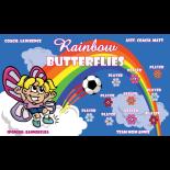 Butterflies Rainbow Fabric Soccer Banner E-Z Order